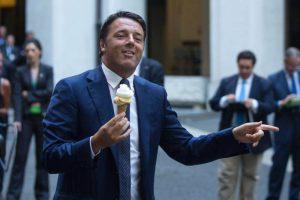 Matteo Renzi gelato Grom